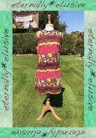 True Vintage 60s CRIMPLENE Pink Festival Twiggy Shift Mini Mod Dress Size 10 12