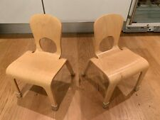 """Pair of Community Playthings Woodcrest 10"""" Chairs (J710)"""