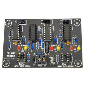 Operational Amplifier OP AMP Tester For Single Dual opamp TL071 TL072 TL081/082