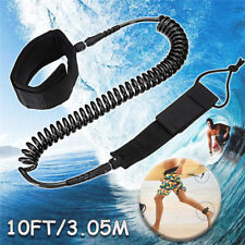 10ft SUP Surfing String Surfboard Ankle Leash Rope Coiled Stand Up Paddle Board