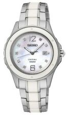 Seiko Women's SXDE85 Analog Japanese-Quartz Mother of Pearl Dial Two Tone Watch