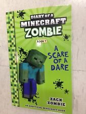 MINECRAFT ZOMBIES BOOK , DIARY OF , BRAND NEW  A SCARE OF DARE , ZACK ZOMBIE