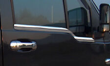 Chrome SIDE Window Sill Copertine Trim Set per adattarsi FORD TRANSIT CONNECT (2002-12)