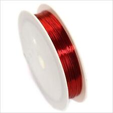 Fil de Cuivre 0,4mm – 17 mètres Rouge pour Bijoux et Loisir Créatif