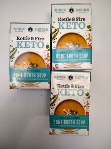 Lot of 6 Kettle and Fire Bone Broth Soups; Butter Curry plus 1 Broccoli Cheddar