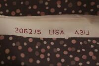 Tapete für Puppenhaus Tapetenbogen braun gepunktet Lisa 2062/5