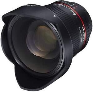 Samyang 8mm F3.5 Fisheye UMC II APS-C Nikon AE Camera Lens