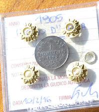 REGNO D' ITALIA VALORE 1 CENT 1905  sigillato SPL NUMISMATICA SUBALPINA