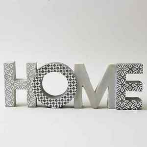 Geo Home Word Ornament for Home Décor