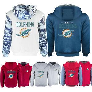 Miami Dolphins Hoodie Thicken Warm Zipper Coat Winter Fleece Jacket Sweatshirt