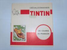 HERGE TINTIN LIVRET COMPLET DECALCOMANIES DAR LES CIGARES DU PHARAON TBE