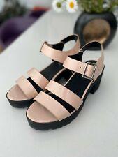 OFFICE Patent Leather Pale Pink Platform Sandals Size 40