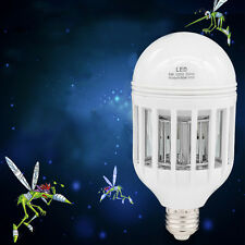 15W E27 Led Insects Zappers Light Bulb Mosquito Killer Moths Bugs Fly Trap Lamp