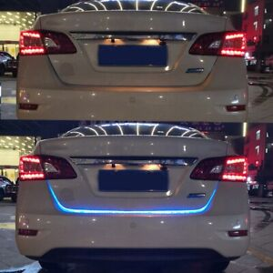 12V  Led Strip Trunk Tail Brake Turn Signal Lights Flow Type Car Tailgate Decor