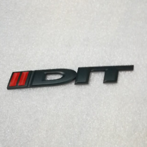 DIT Black Red Trunk Boot Rear Emblem Badge Decal Sticker