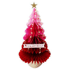 Red Christmas Tree Honeycomb Pop Up Card Christmas Card