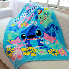 cute lilo&stitch coral fleece SMALL blanket rug blankets U159 little quilt new