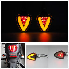 2PC Universal Motorcycle Bike Amber LED Turn Signal Indicator Blinker Light Lamp