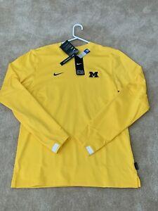 (S) Michigan Wolverines Nike Dri-Fit Lightweight Crew Top Sweatshirt NWT $75