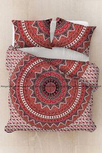 Indian animal mandala duvet cover hippie bohemian cotton bedding quilt cover set