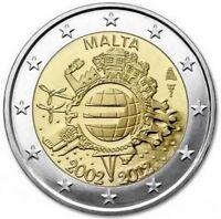 Malta  2€ 2012  10 anni Tye  FDC