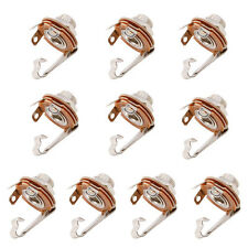"10Pcs/Set Mono 1/4"" 6.35mm ID Socket Jack Connector Panel Mount Guitar Plate New"