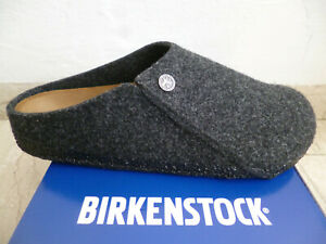 Birkenstock Men's Zermatt Rivet Clogs Mules Felt Grey New