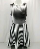 H&M Divided Woman's Size 10 Striped Dress Sleeveless White and Black EUC