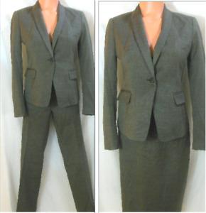 Ann Taylor 3Pc Skirt/Pant Suit 2&2P Grayish Brown Lined Pencil Knee Skirt NWT/EU