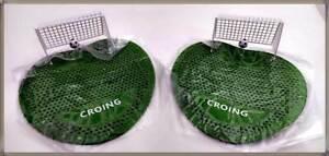 2x CROING Urinalsieb Fußball Tor mit Ball Toilette Pissoir Urinal Toilettenstein