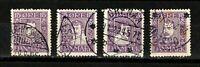 Denmark stamps #168-171,  short set, 1924, used, SCV $28