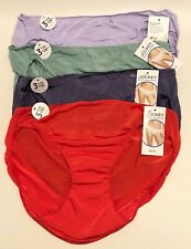 NWT 4 Jockey No Panty Line Promise Bikini Panties 1370 Solids Multi Size 7