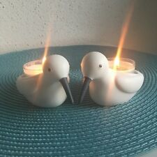 PartyLite Kerzenhalter / Teelichthalter - Paar - Strandläufer - Vögel - maritim