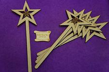 MDF Star Wand with Fancy Snowflake 10x24.5cm/100x245mm x 4mm 5x Laser cut wood
