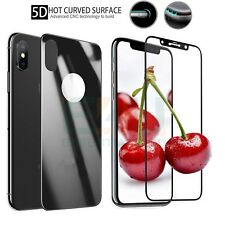 Front + Back Black 3D/5D Tempered Glass Screen Protector For Apple iPhone XS