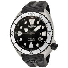 ZODIAC ZO8013 MEN'S OCEANAIRE AUTOMATIC BLACK RUBBER WATCH