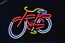 New FAT TIRE BICYCLE BIKE Belgium Beer Bar Real Neon Light Sign FAST SHIPPING