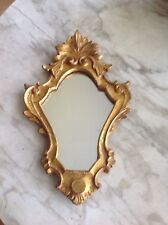 Vintage 10 x 16 Italian Hollywood Regency Gold Shell Carved Wall Mirror