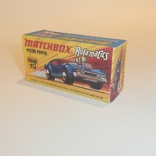 Matchbox Lesney Superfast 10 Piston Popper Rola-matics empty Repro I style Box