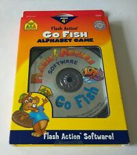 "School Zone: Go Fish PC CD Flash Action Software for kids ""NEW"" ***FUN GAME***"