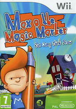 Jeu Nintendo Wii   Max & The Magic Marker Run Jump Think Draw Neuf sous Blister