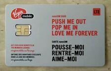 Virgin Mobile (Canada) 4G LTE - Nano Sim Card - Prepaid Or Postpaid - Brand New