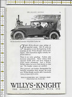 Willys Knight Touring Car 1923 magazine print ad