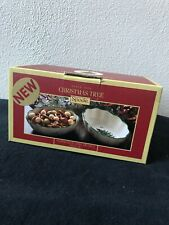 """Spode Christmas Tree Fluted Oval Dish Set of 2 6"""" NEW Dishes"""