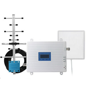 Tri Band Signal Booster 900 1800 2100Mhz B8 B3 B1 GSM 2G 3G 4G LTE Repeater