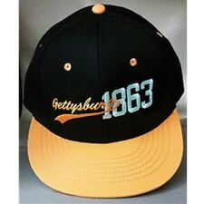 GETTYSBURG ORANGE FLAT BILL 1863 CAP HAT NEW