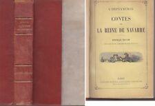 C1 L HEPTAMERON Contes de la REINE DE NAVARRE Garnier 1882 RELIE Renaissance