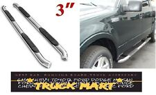 2007-13 Toyota Tundra Double Cab 3'' Stainless Steel Side Steps Board Nerf Bars