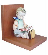 Hummel Book Worm Bookend 14/A NIB Boy Reading Book Wooden Base Bookend TMK 8