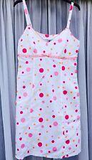 DEBENHAMS Ladies Cute Spotty White Pink Strappy Short Summer Dress Vibrant 12 40